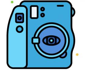 Polaroid Camera Icon Vector