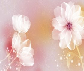 Quietly Elegant Flower Background Vector