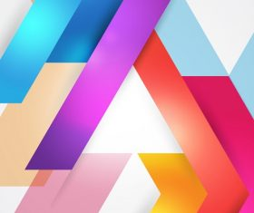Rainbow Color Abstract Background Vector
