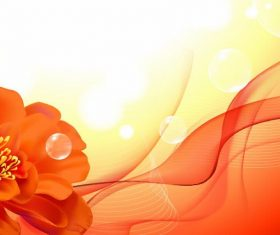 Red Flower with Abstract Background Vector
