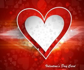 Red and White Heart With Red Background Vector