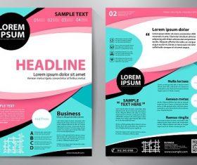 Sky Blue Pink black brochure template vector