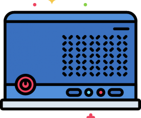 Small Form Factor Computer Case Icon Vector