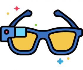 Smart Glasses Icon Vector