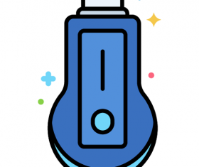 Smart TV Dongle Icon Vector