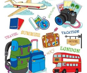 Summer Travel Vacation Icon Vector