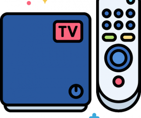 TV Box Icon Vector