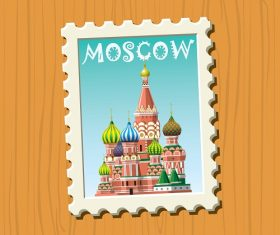 Travel stamps Moscow Vector