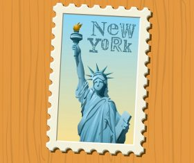 Travel stamps New York Vector