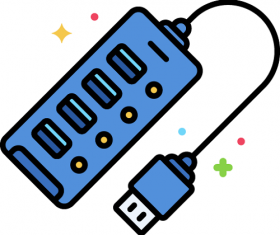 USB Hub Icon Vector
