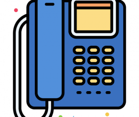VOIP Phone Icon Vector