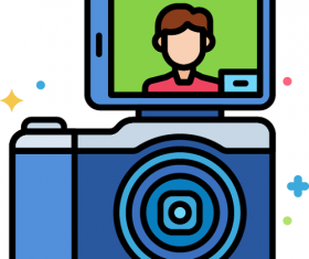 Vlogging Camera Icon Vector