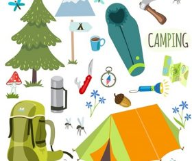 Winter Camping Equipment Icon Vector