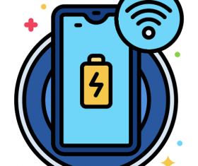 Wireless Charging Icon Vector
