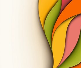 Yellow Green Orange Yellow Abstract Background Vector
