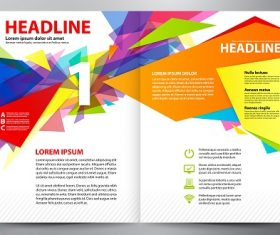 Yellow Orange Blue Red Abstract Brochure Template Vector