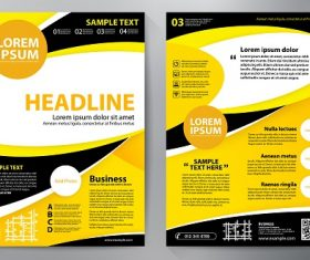 Yellow black brochure template vector