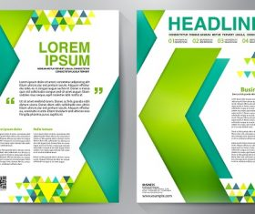Yellow Green Blue Arrow Brochure Template Vector