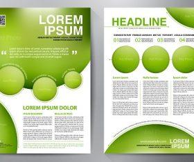 Yellow Green Circle Brochure Template Vector