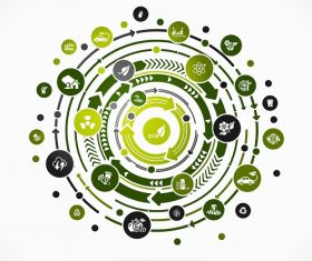 Abstract Nature Eco Icon Background Vector