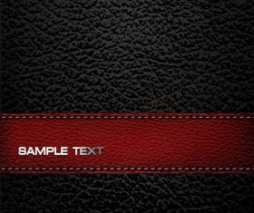 Black Red Leather Pattern Vector