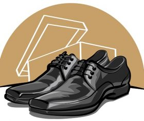 Black Shoes for Men Icon Cartoon Vector