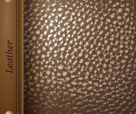 Brown Leather Texture Pattern Vector