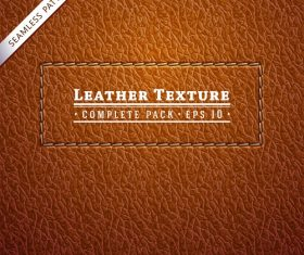 Brown Leather Textures Pattern Background Vector
