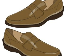 Brown Men's Shoes on a White Background