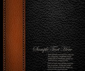 Brown Strip Black Leather Pattern Vector