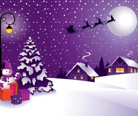 Christmas in the Country Background Vector
