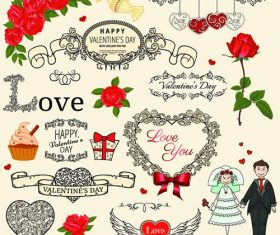 Different Heart Design Background Vector