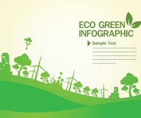Eco Green Infographic Background Vector