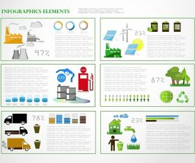 Eco Infographic Percentage Background Vector