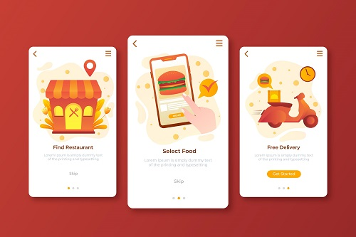 Food Delivery Mobile Design Background Vector free download