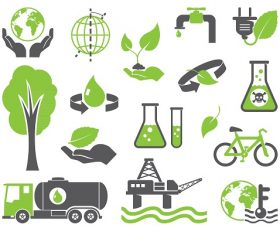 Green planet symbols Icon Vector
