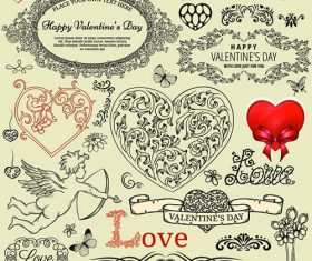 Happy Valentines Sticker Design Background Vector
