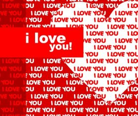 I Love You Phrase Background Vector
