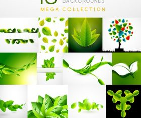 Leaf Abstract Backgrounds Vector