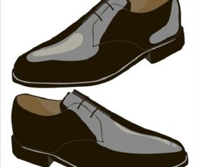 Men's Shoes on a White Background Vector