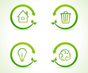 Nature Eco Icon Vector