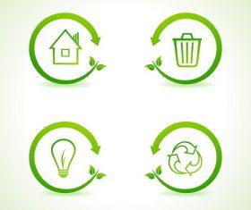 Nature Eco Icon Vector