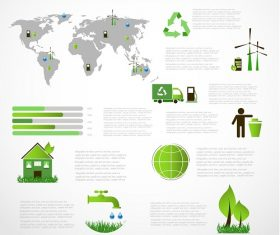 Nature Ecology Infographic Background Vector