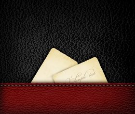 Red Black Leather with Note Pattern Vector