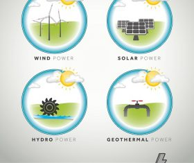 Renewable Power Energy Icon Vector