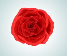 Rose Flower Cartoon Background Vector