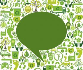 Save the Earth Green Icon Vector