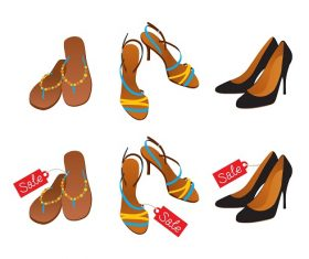 Shoes and Sandals For Sale Vector