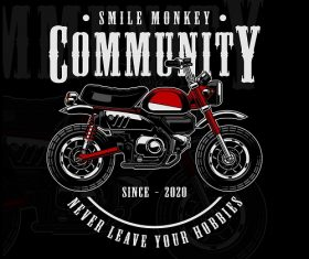 Smile Monkey Community Motor Background Vector