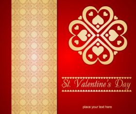 St. Valentines Day Background Vector